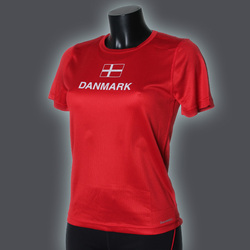 Ws LIGHT Danmark T-Shirt, Red