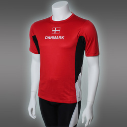 PRO Danmark T-Shirt, Red/White/Black