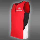 PRO Danmark zip-singlet, Red/White/Black