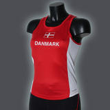 Ws LIGHT Danmark Singlet, Red/White-2