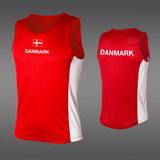 LIGHT Danmark Singlet, Red/White-2
