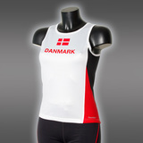 Ws LIGHT Danmark Singlet, White/Black/Red