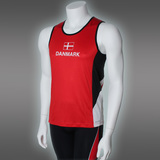 LIGHT Danmark Singlet, Red/White/Black