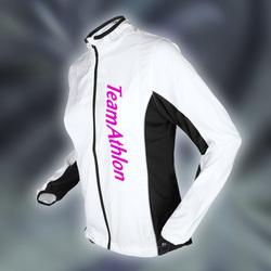 Ws Micro Jacket - hvid m. tryk