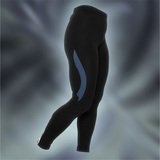 Ws PRO L.Tights, Black/BlueMirage