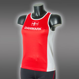 Ws LIGHT Danmark Singlet, Red/White