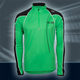 Pulse Longslv Zipshirt, Bright Green